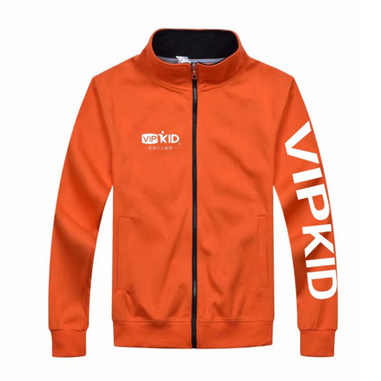 Otoño primavera Vipkid Teacher Dino chaqueta con cremallera sudaderas para hombre o mujer sobretodo dinosaurio maestro props China tamaño bloque