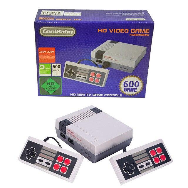CoolBaby HDMI Ретро Классический игровой плеер ТВ видео игровые консоли детство встроенный 600 игр лучший подарок на Рождество и день рождения