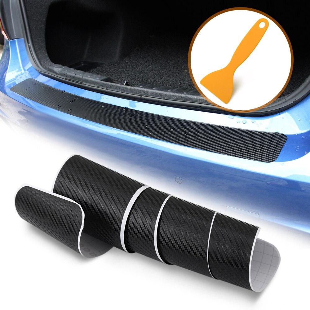 Pegatina para parachoques trasero de fibra de carbono para opel, insignia para renault golf 4, seat leon fr, golf 5, mercedes opel astra h, bmw e39