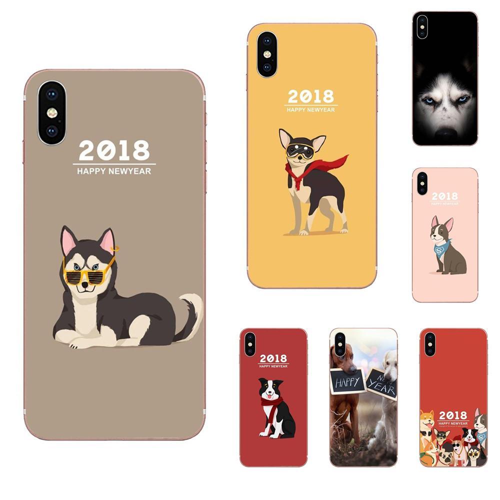 2018 Feliz Año Nuevo suaves para Huawei Honor 4C 5A 5C 5X 6 6A 6X 7 7A 7C 7X 8 8C 8 9 10 10i 20 20i Lite Pro