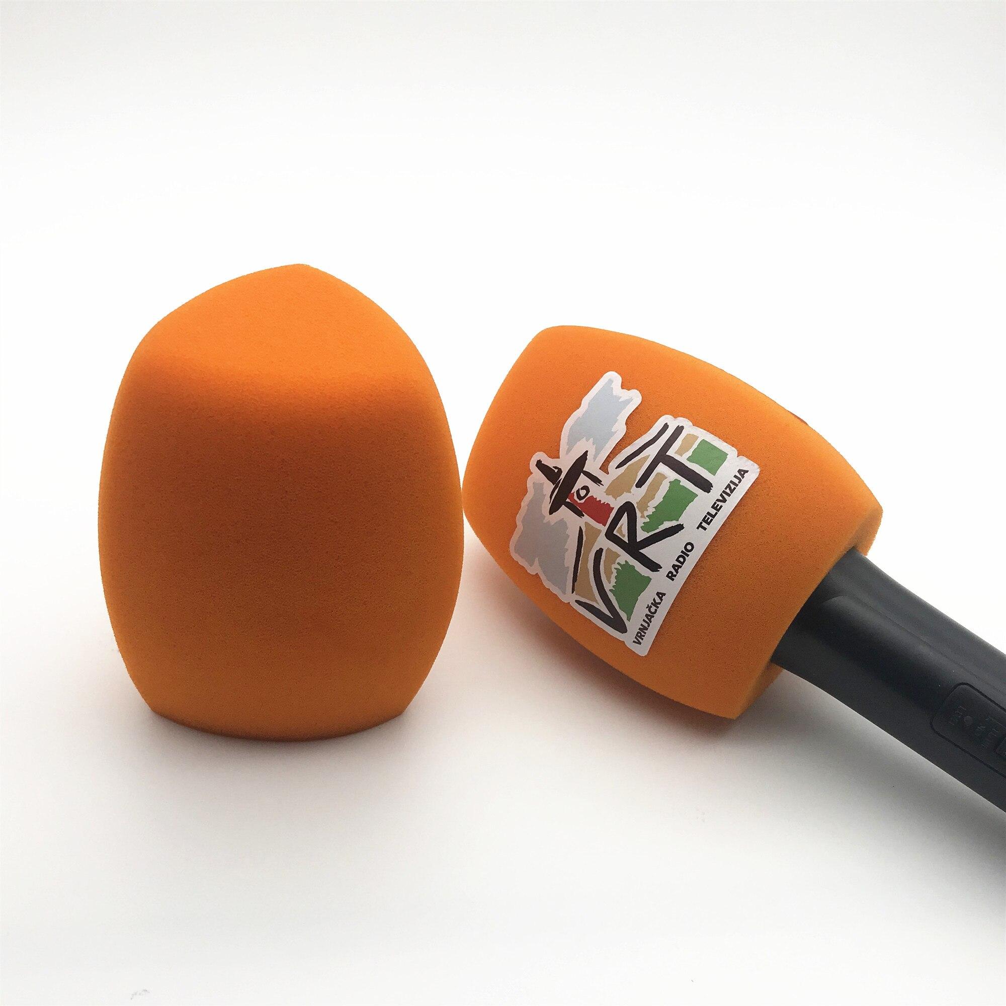 Linhuipad O15 оранжевый цвет Ветрозащита для микрофона настроить логотип ручной лобовое стекло для микрофона Sennheiser 4 см (1.57in)