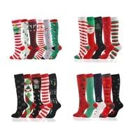 calcetines de navidad 56 pairs per set christmas sock calcetines de compresion sport knee high socks compression
