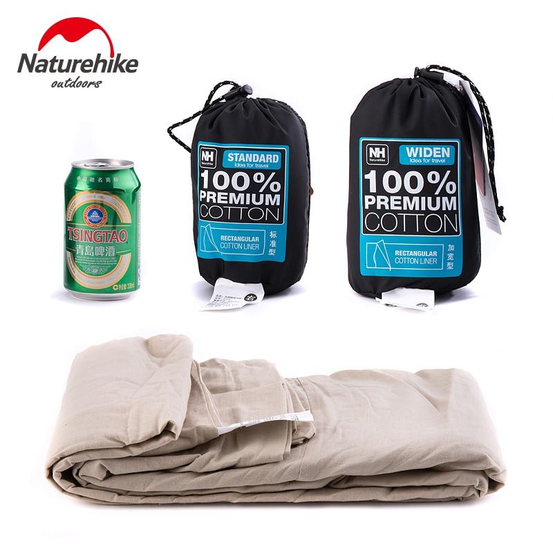 Naturehike Cotton Sleeping Bag Liner Silky Ultralight Travel Hotel Sleeping Bag Liner Splicable Envelopes Backpack Camping Sheet