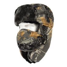 Gorro de caza de invierno para hombres y mujeres, gorro de camuflaje biónico para senderismo, gorro térmico para caza, gorro Ushanka a prueba de viento