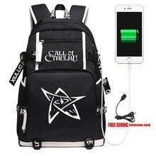 Nouveau jeu appel de Cthulhu sac à dos voyage sacs pour ordinateur portable Cosplay Anime enfants adolescents école étudiant sacs Bookbag