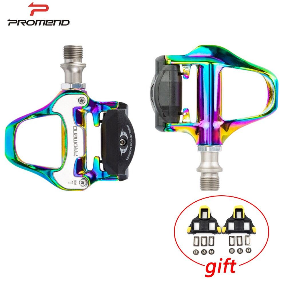 Promend-pedal de autosujeción para bicicleta de carretera, pedales coloridos para bicicleta profesional...