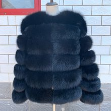 2020 natürliche 60CM Echt Fox Pelz CoatWomen Winter natur pelz Weste Jacke Mode silm Outwear Echt Fuchs Pelz Weste mantel Fuchs
