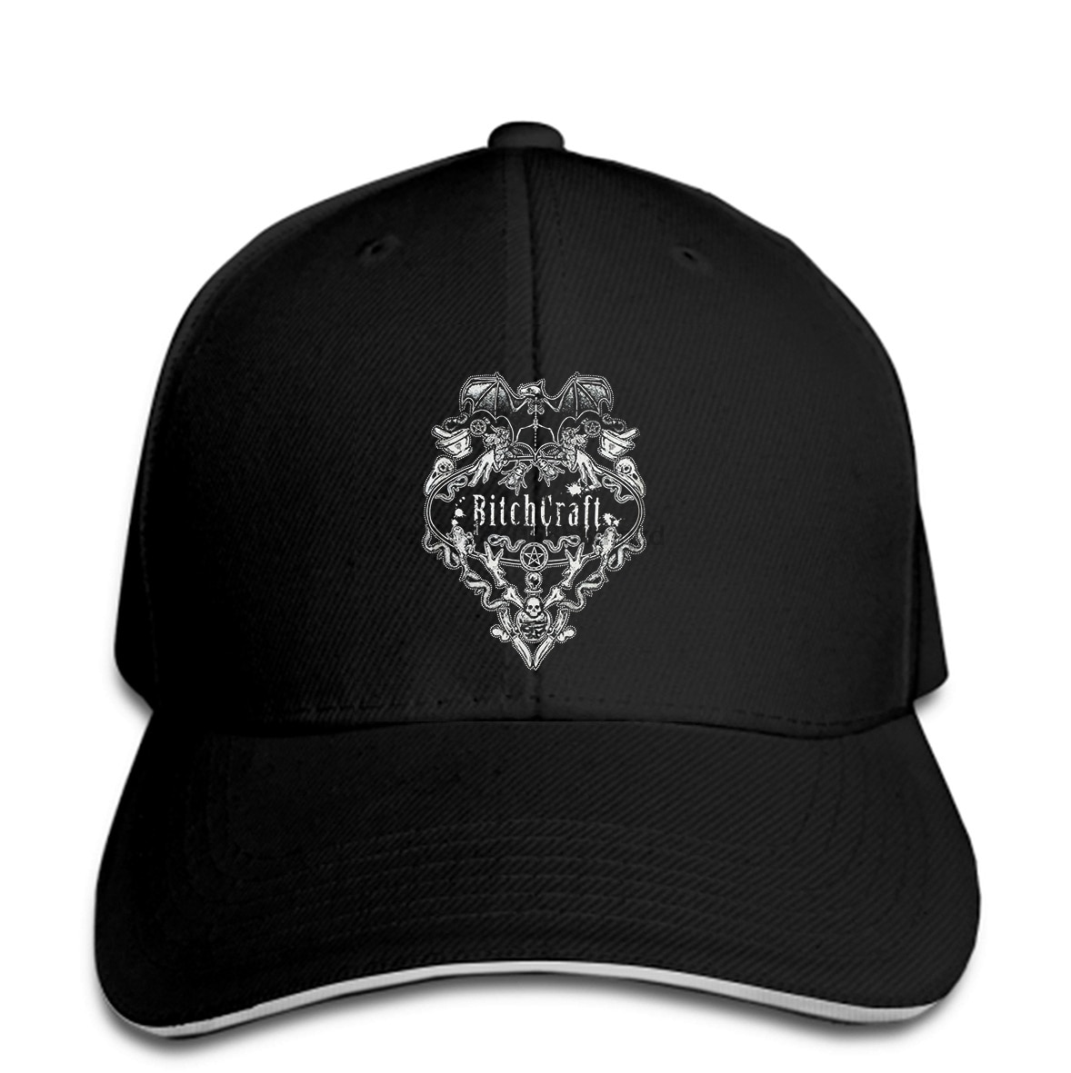 Restyle Bitchcraft Goth Punk Tattoo Emo Gothic Hexe Schwarz Top Hut Snapback Kappe Frauen Hut Erreichte