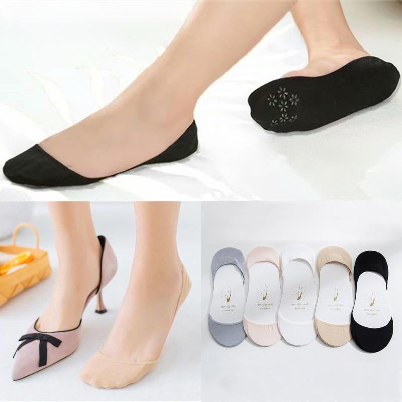 Venta al por mayor Harajuku calcetines de algodón de verano otoño lindo Color caramelo bote calcetines corte bajo Invisible calcetines de las mujeres las niñas calcetín Delgado