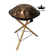 Palissandre solide assis HandPan support étagère métal tambour support bois étagère portable stockage hêtre HANDPAN support vente handpan tambour