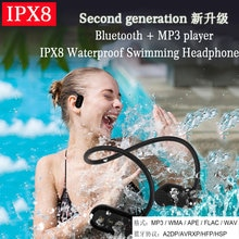 2020 IPX8 Waterproof Swimming MP3 and Bluetooth MP3 Player Sport Headphone8g 16g 32g Music Player Up