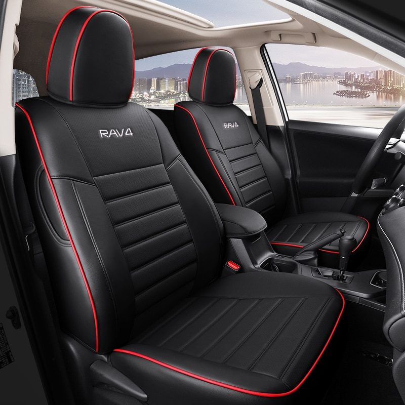Custom Fit Full Set Car Seat Covers For Toyota rav4 2013 2014 2015 2016 2017 2018 2019 with Waterpro