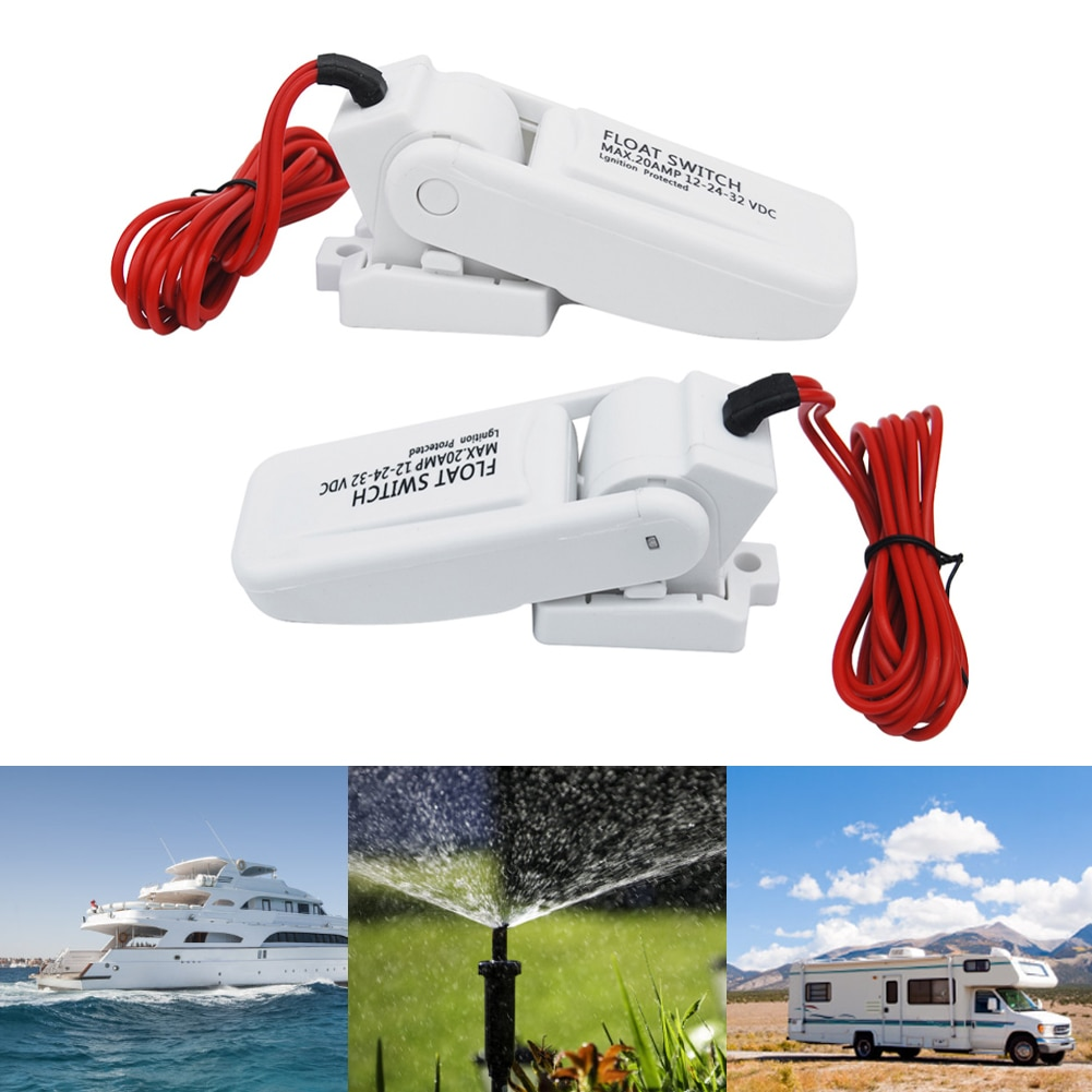 12v automatic electric boat marine bilge pump float switch water level controller dc flow sensor switch boat accessories marine Boat Accessories 12V Bilge Pump Switch Combination Suit Water Marine Level Controller DC Flow Automatic Electric Sensor Switch