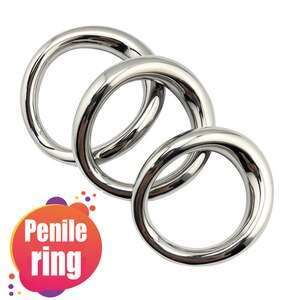 Stainless steel penis bondage lock cock Ring Heavy Duty male metal Ball Scrotum Stretcher Delay ejaculation Sex Toy men