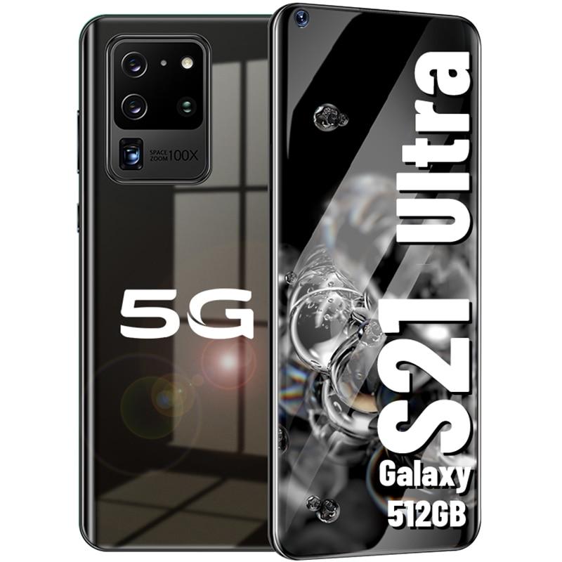 Galaxy S21 Ultra Android Smart phone 7.2 HD inch mobile phone телефон  16GB+512GB 6000mAh celular   Global version cellphones