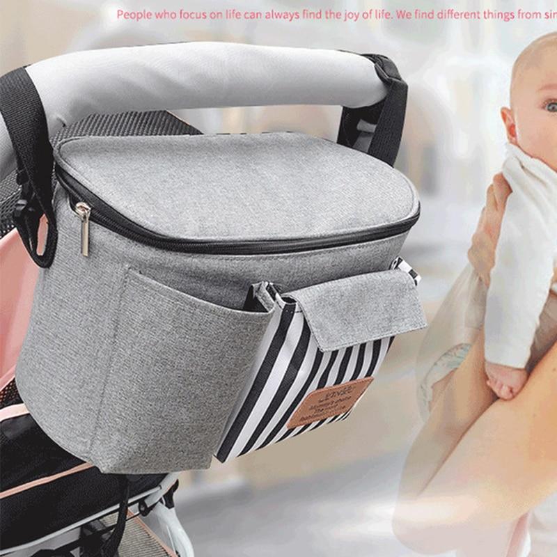 Bolsa de pañales de maternidad momia de moda bolsas de pañales de bebé para cochecito bolsas grandes de viaje organizador de bolsa de mamá