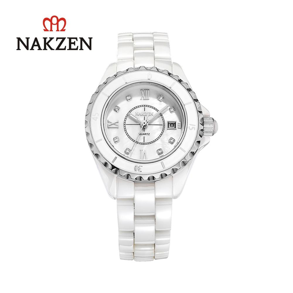 Relógio de Quartzo Relógio de Cerâmica Banda de Negócios de Alta Japonês Feminino Qualidade Senhora Calendário Relógio