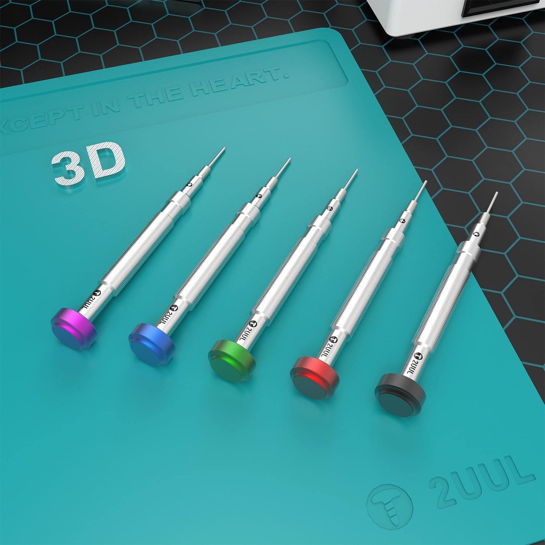 2UUL MasterXu ثلاثية الأبعاد مفك دقيق أداة إصلاح الترباس سائق آيفون أندرويد الهاتف المحمول شاشة LCD تفكيك القتال