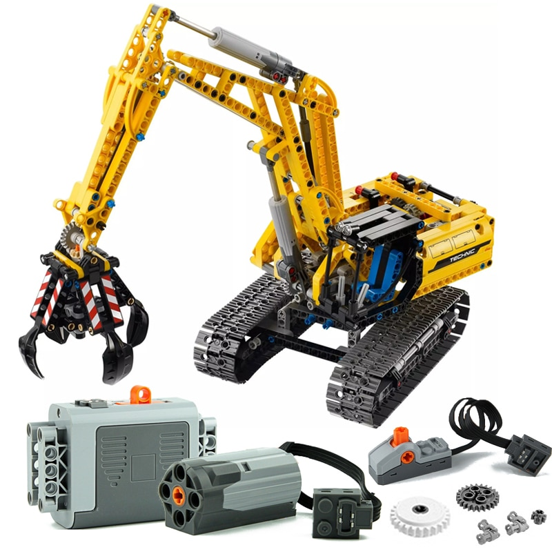 720 pièces compatibles avec Lepins Technic pelle modèle blocs de construction brique PF moteurs ensemble ville enfants jouets pour enfants cadeaux