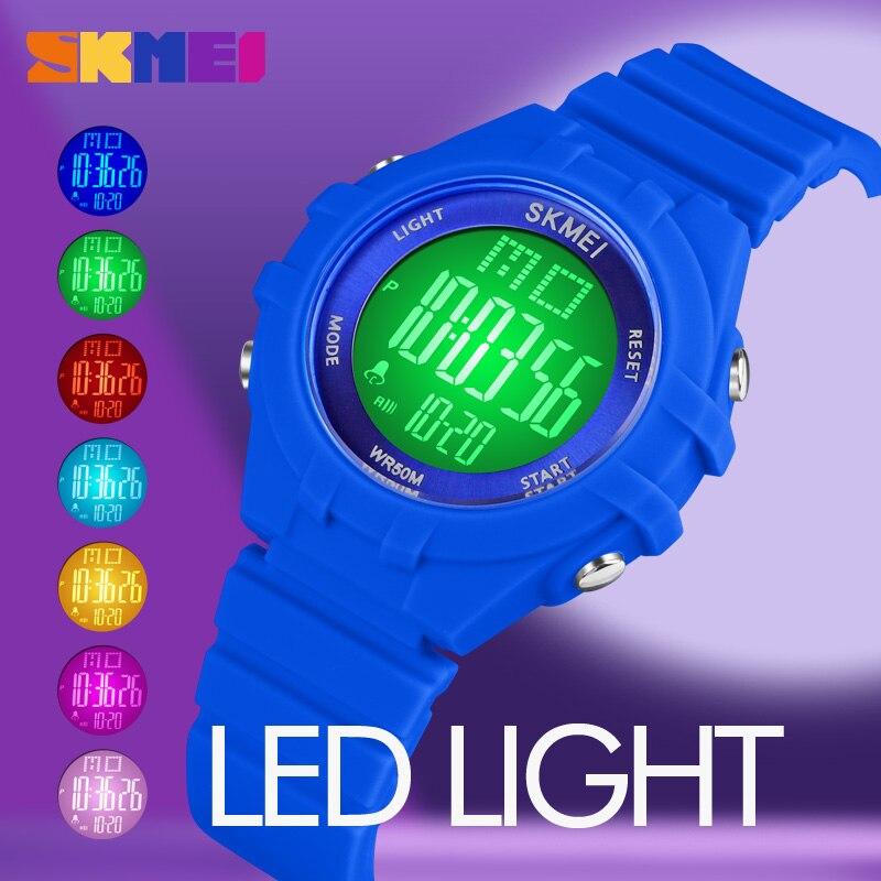 New SKMEI LED Display Digital Watch Kids Watches Sport Boyes Girls Wristwatch Shockproof Waterproof Children Watch montre enfant