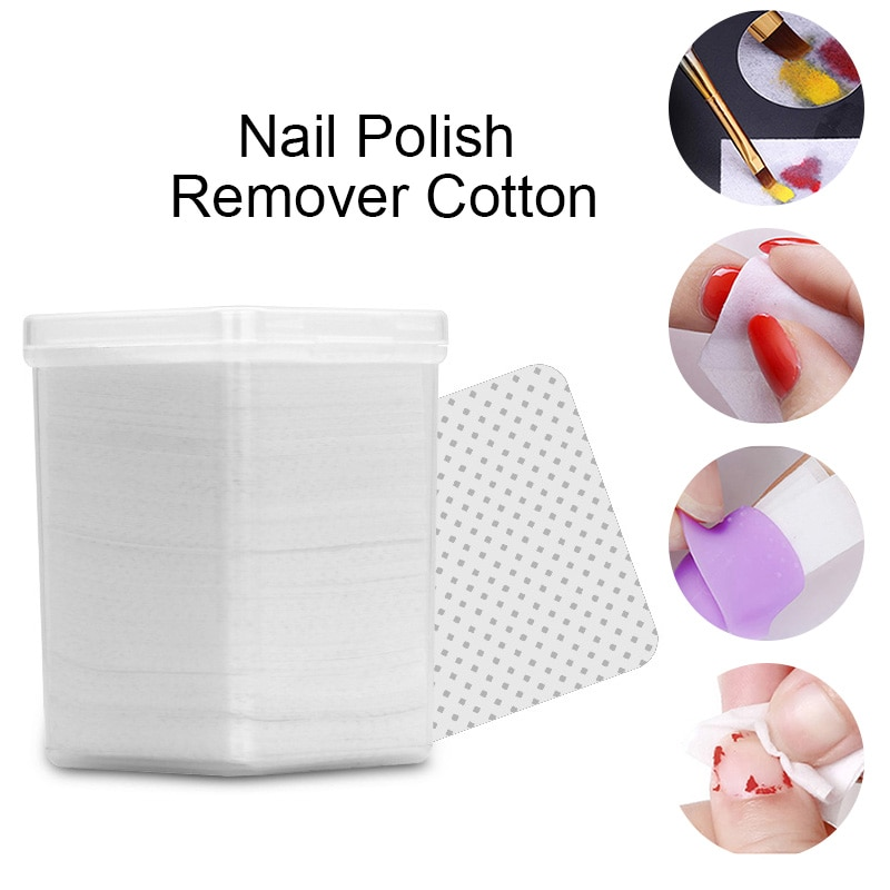 180Pcs/Box Lint-Free Nail Polish Remover Cleaner Cottons White Soft Wipes Cleaner UV Gel Pusher Nail