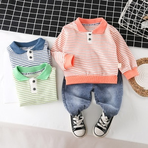 Boys Clothing Sets Spring Autumn Children Casual Cotton Coat Denim Pants 2pcs Tracksuits For Baby Boy Toddler Sports Suits 2 3 4