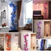Decoration bricolage autocollant de mode flore concu 3D salon chambre decalcomanie artisanat fleur mur cuisine murale fleur concu