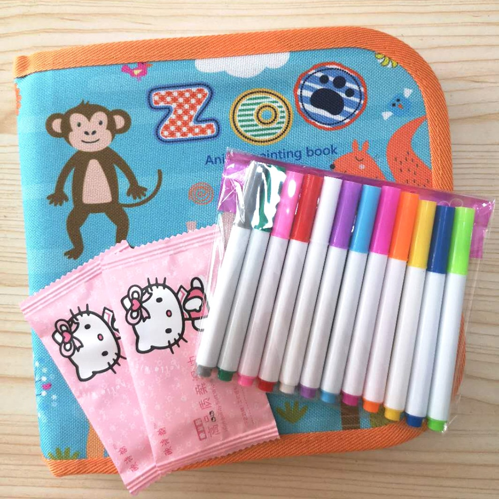 AliExpress - Baby Toys Drawing toy Drawing Board Book Magic Pen Painting Coloring Book Blackboard Painting Kids Learning Educational Toy