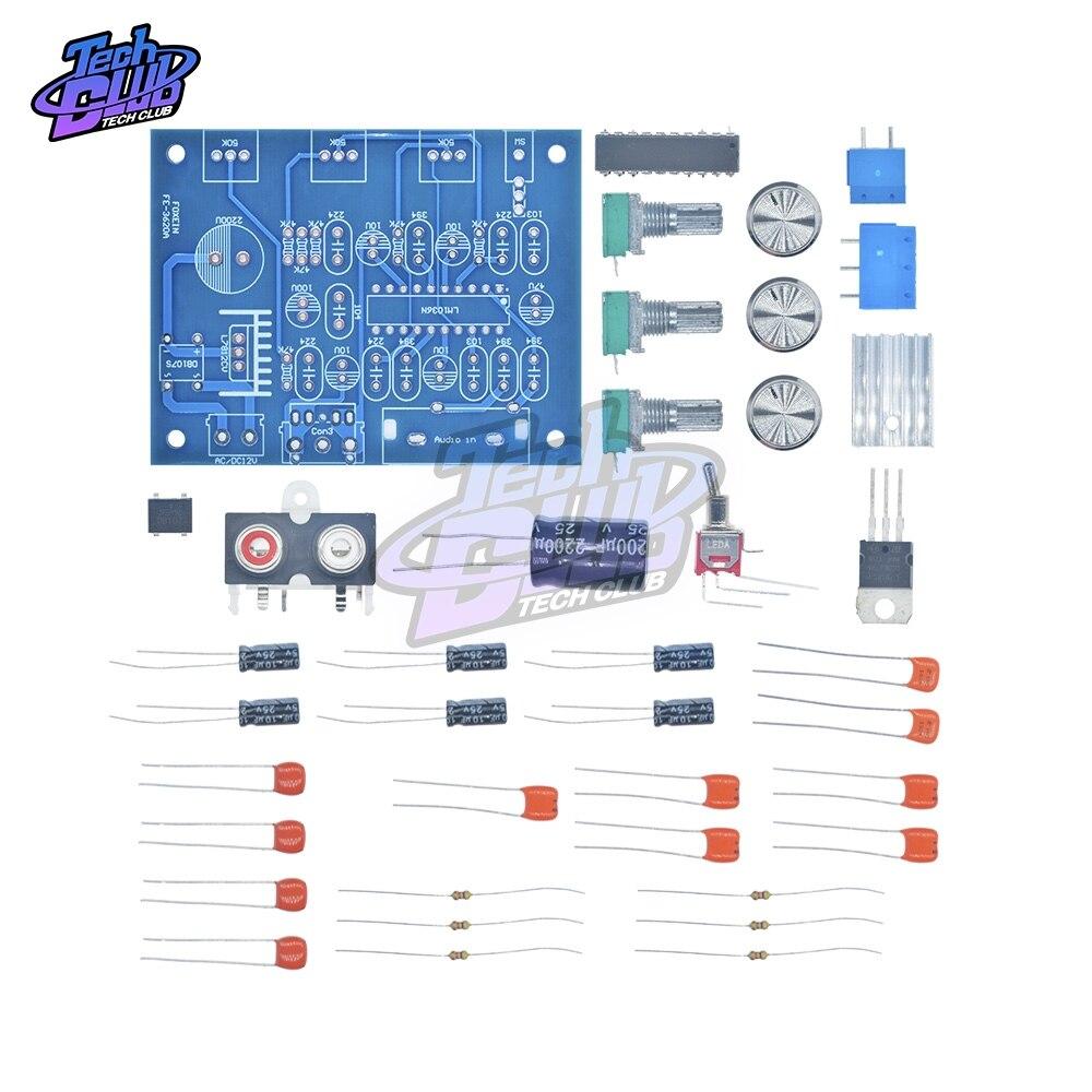 LM1036N Fever Volume Control Board Kit DIY Kit LM1036 DC Tonal Chip For 12V DC/AC Power Supply Diy Electronic Module