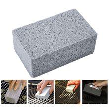 2 pçs handheld limpo tijolo churrasco limpeza de pedra inodoro grill churrasqueira raspador griddle remover manchas escova