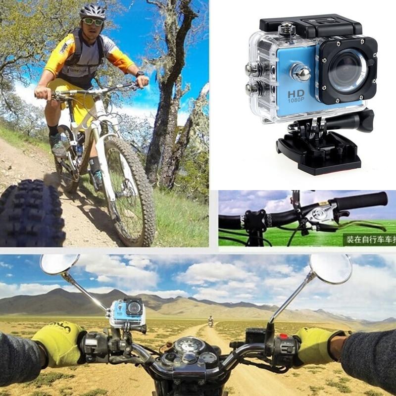 Мотоцикл видео Камера вождения Регистраторы HD Водонепроницаемый Камера 2,0 дюймов камера на мотоциклетный шлем Камера Экстремальные виды с...
