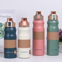 500/680 мл двойная Изолированная бутылка из нержавеющей стали, термос для воды, Спортивная Термокружка, кружка для кофе, чая, молока, дорожная к...