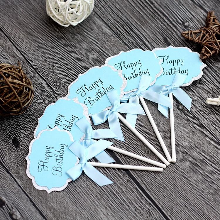 Decoración Para FIESTA DE feliz cumpleaños, decoración para niños de color azul y rosa, 5 uds.
