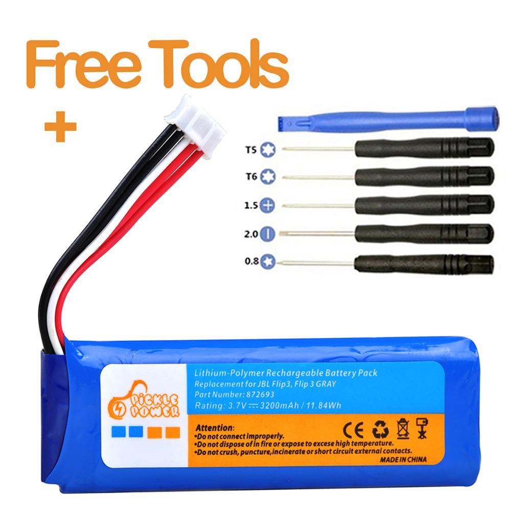 Batería GSP872693 para JBL Flip 3 Flip 3 gris GSP872693 P763098 03 con herramientas de instalación