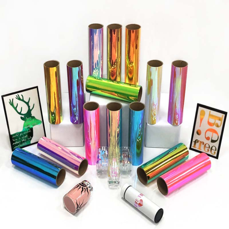 Holographic Adhesive Craft Vinyl 30.5cmx150cm decorative film, even if you stick the cup sticker