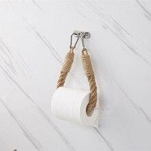 Винтажная пеньковая веревка для полотенец, рулон для туалетной бумаги, держатель для полотенец, настенный держатель для полотенец, для ванн...