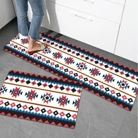 kitchen non slip carpet household oil proof and waterproof pvc leather printing long mats balcony bathroom entrance floor rugs