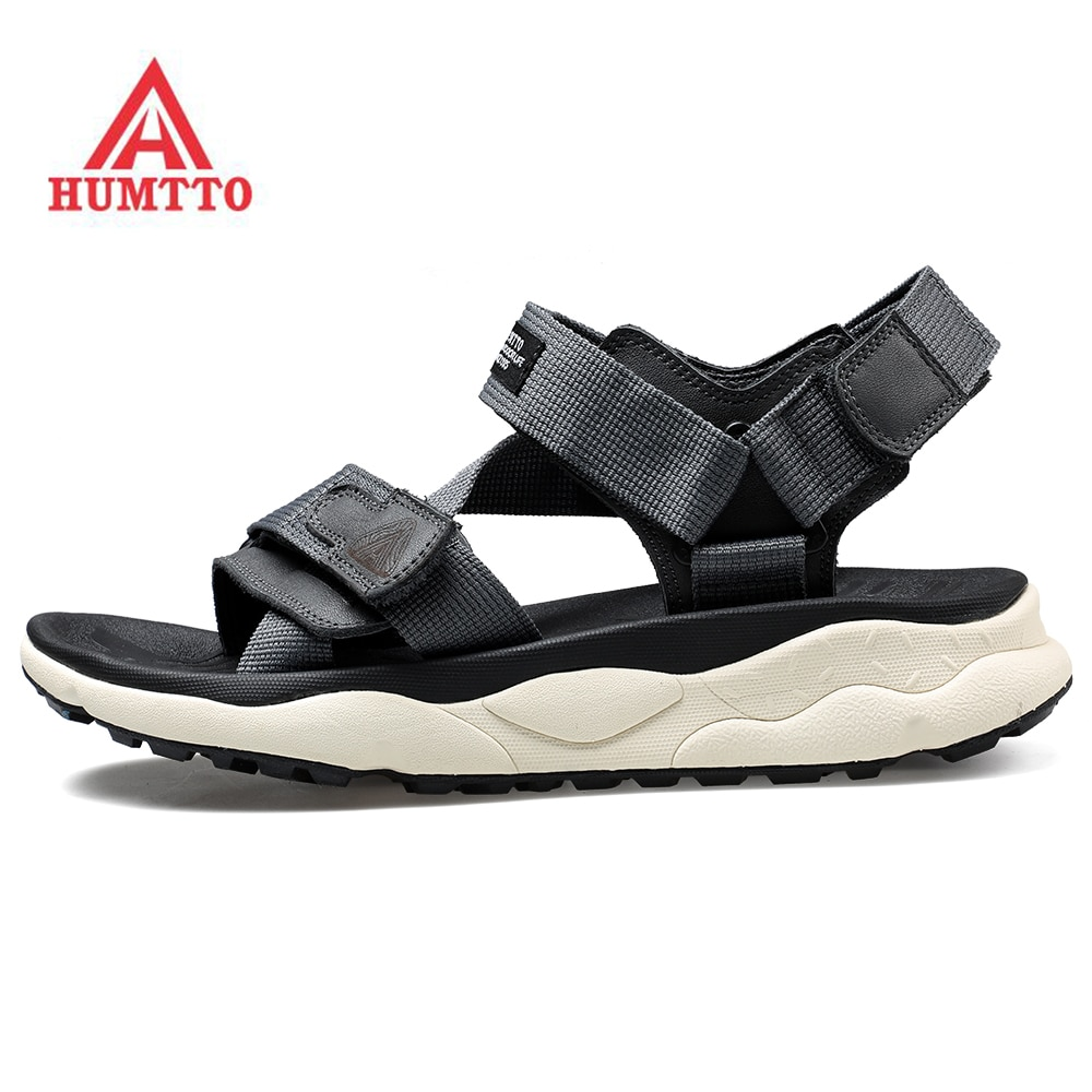 humtto summer men sandals 2021 breathable beach sandals for men's outdoor water mens hiking camping fishing climbing aqua shoes Cushioned HUMTTO Men's Outdoor Sports Hiking Trekking Beach Sandals Shoes Sneakers For Men Summer Water Gym Sandals Shoes Man