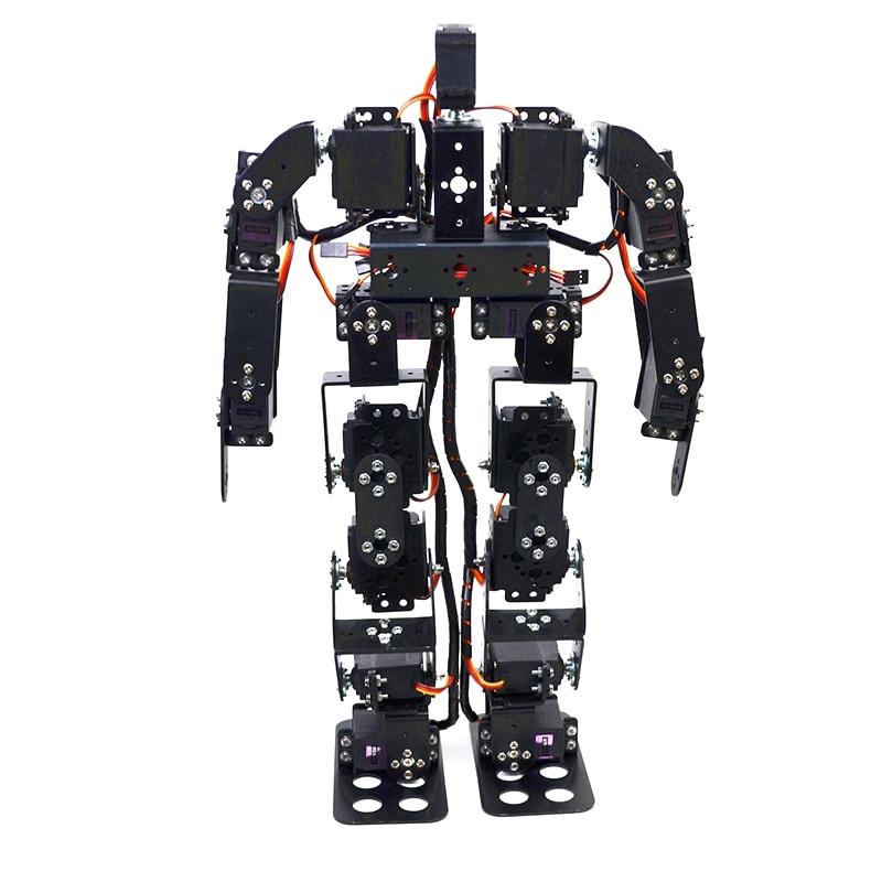 17dof biped robô educacional kit 17 graus de liberdade humanóide/humanóides andando/pés kit suporte