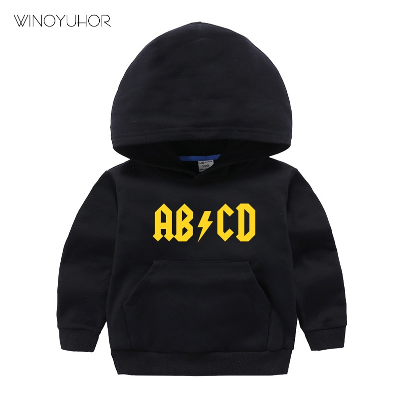 ABCD sudaderas con letras impresas niño niña otoño divertido Casual manga larga Tops niño niños pulóveres Ropa Camisetas