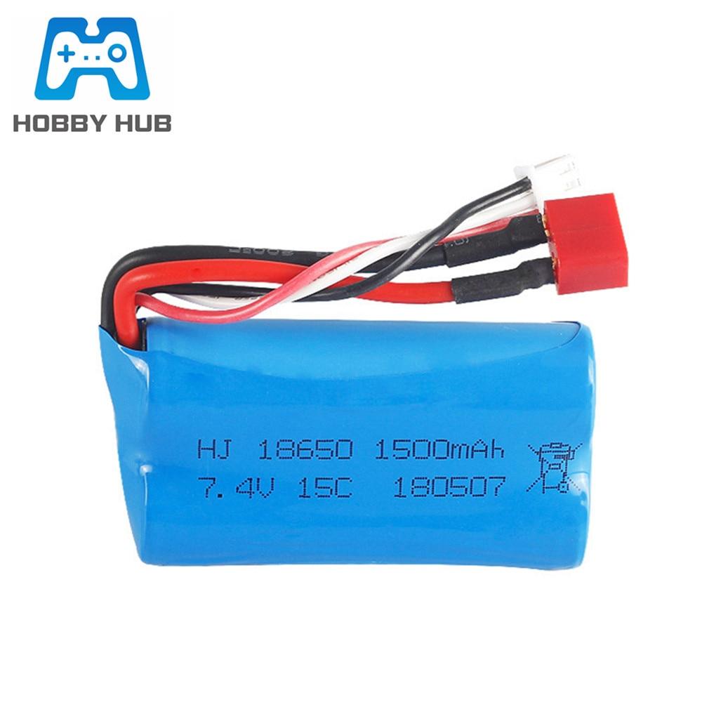 7.4V 1500mAh lipo Battery for FEIYUE FY-03 FY01 FY02 Wltoys 12428 1240112402 12403 12404 12423 rc toy battery part 18650
