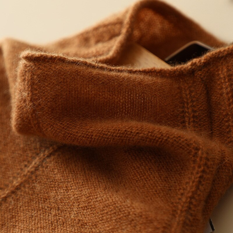 SHUCHAN Turtleneck Cashmere Sweater Women Thin  Korean Fashion Spring/Autumn 2021 High Street  Sweaters for Women enlarge