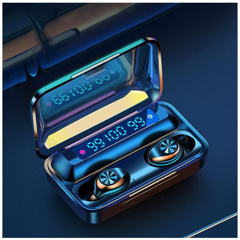 Auriculares inalámbricos Bluetooth 5,0 auriculares 2200mAh caja de carga 9D estéreo auriculares comunes deportivos impermeables para teléfono móvil ipod