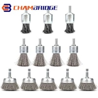 wire wheels brush 1inch knotted and plated crimped wire end brush for metal derusting paint removal deburring angle grinder
