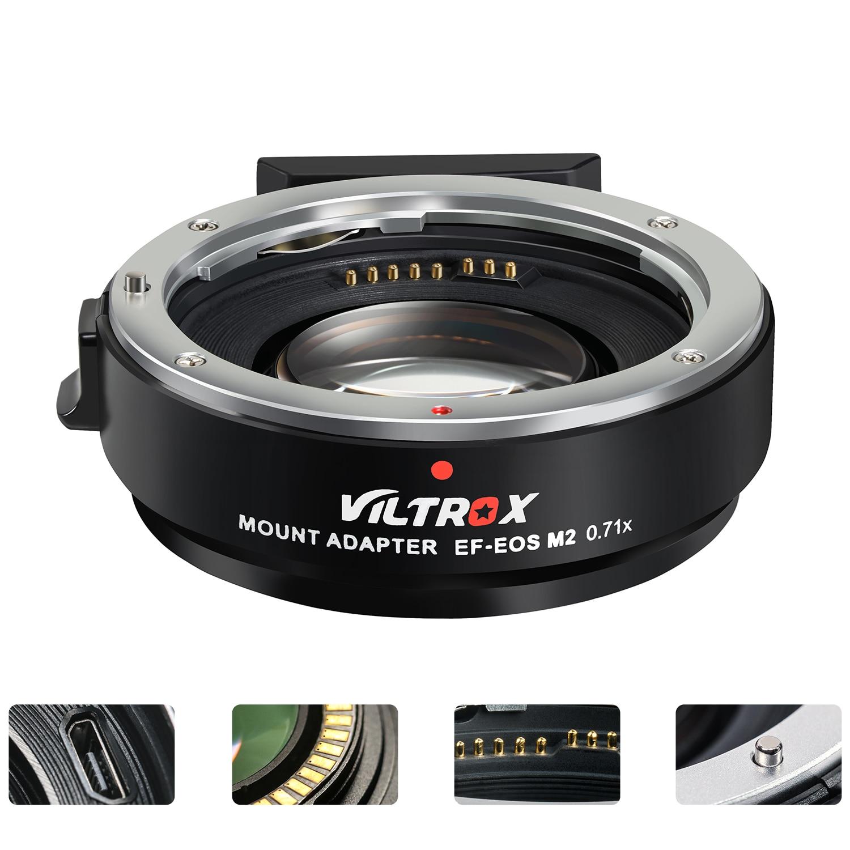 Viltrox EF-EOS m2 0.71x foco automático redutor velocidade impulsionador lente adaptador de montagem para canon ef lente para canon m5 m6 m10 m50 m10 câmera