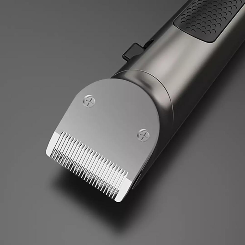 Electric Hair Clipper Rechargeable All Metal Hair Trimmer Titanium  Salon Men Hair Cutting Barber Machine LCD Display 2000mah enlarge