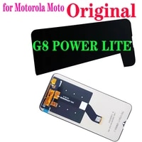 6 5original lcd for motorola moto g8 power lite lcd display touch screen digitizer assembly display for moto xt2055 1246 lc