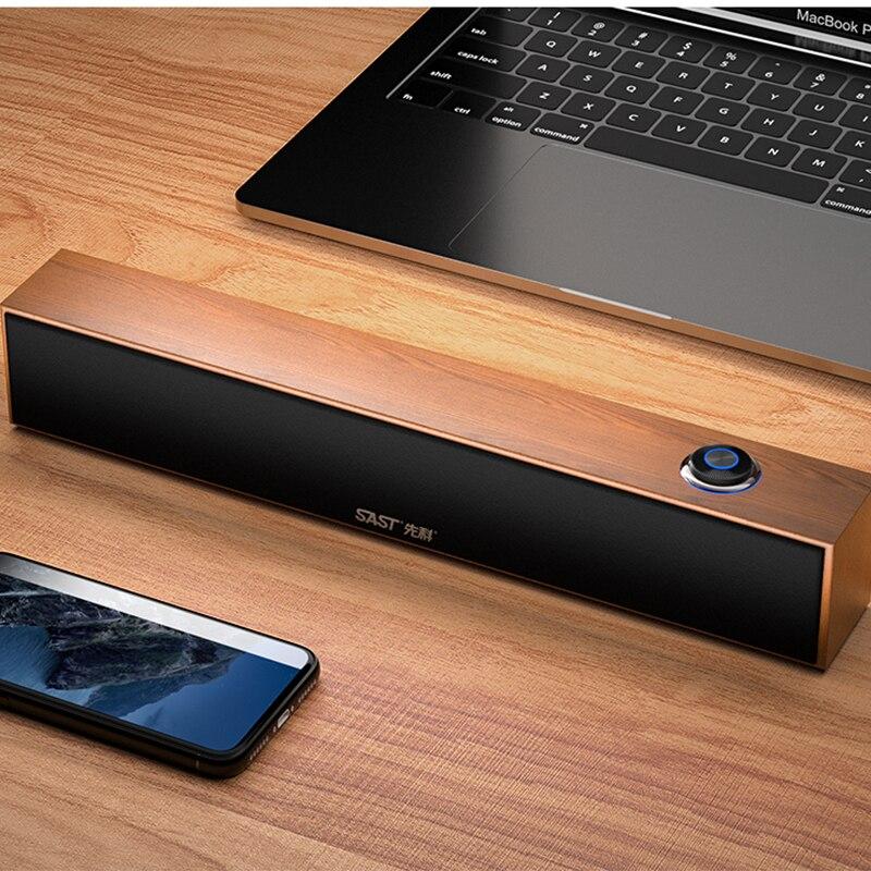 Computer audio Desktop home notebook mini speaker Table subwoofer Table subwoofer USB TV cable speaker Wooden strip