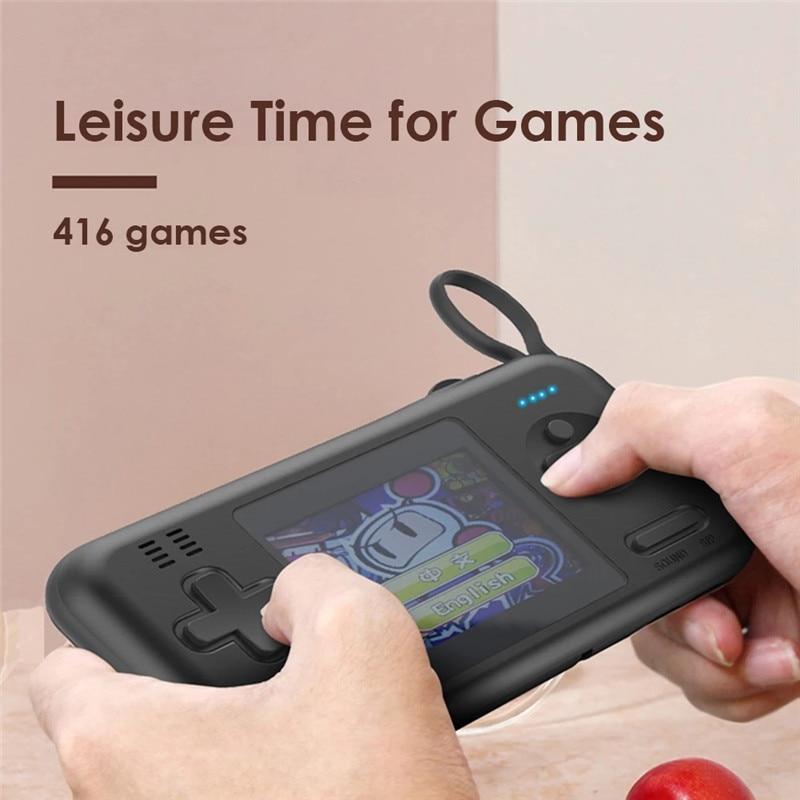 Consola de juegos portátil de alta capacidad, 8000 mAh, Cables integrados para...