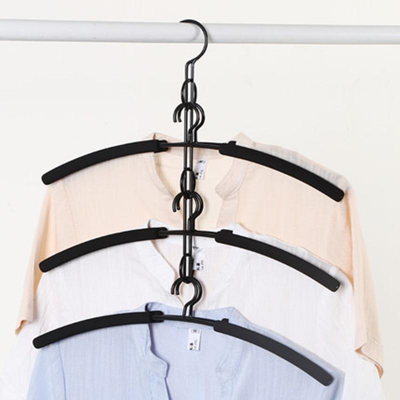 2 pçs/lote multi-camada magia cabide muntifunctional roupas cabides perfeito para camisas vestido blusa gallus suéteres sutiã